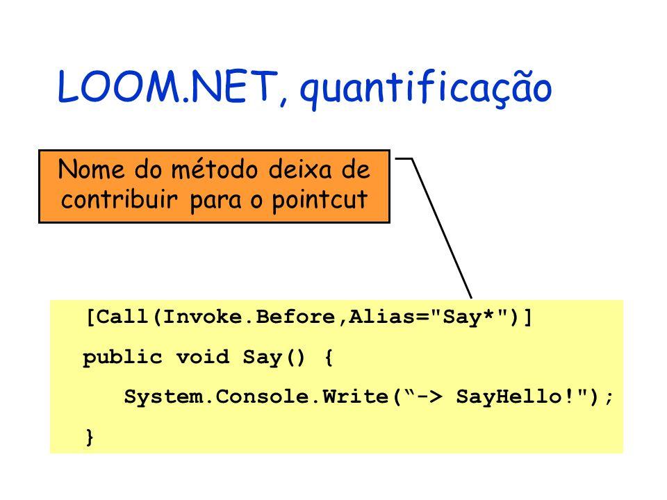 LOOM.NET, quantificação