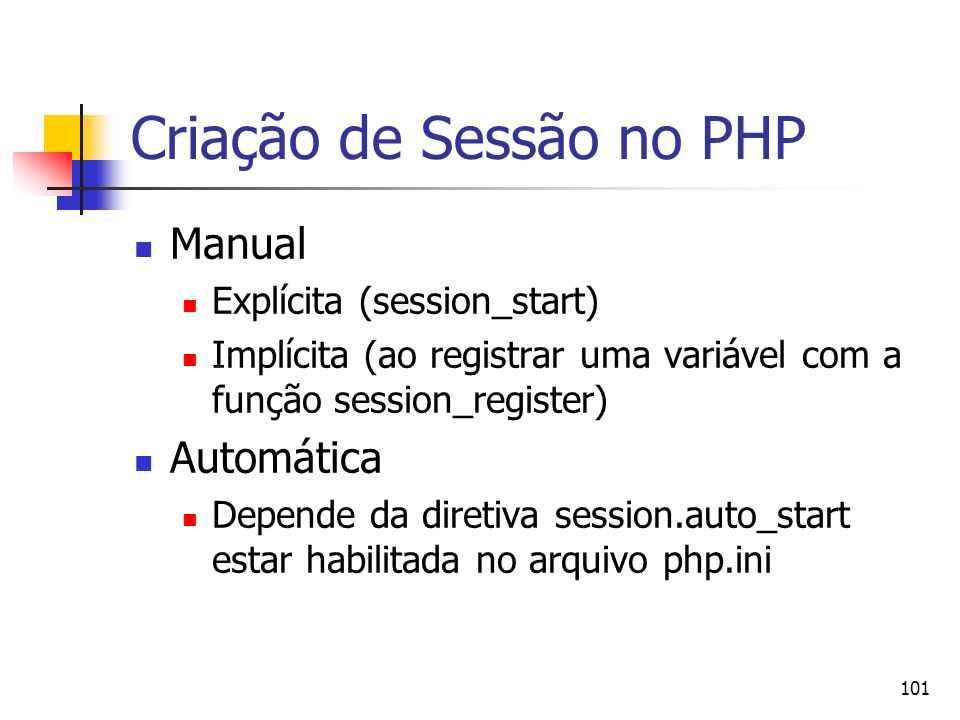 Criação de Sessão no PHP