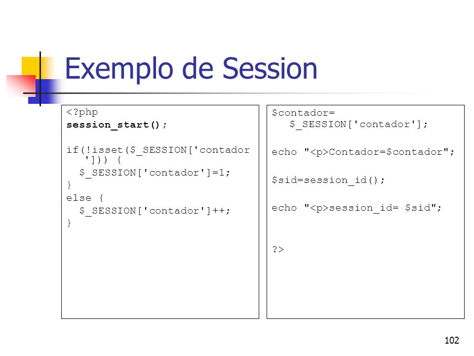 Exemplo de Session < php session_start();