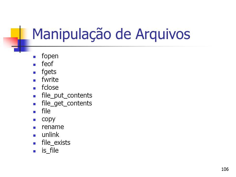 Manipulação de Arquivos