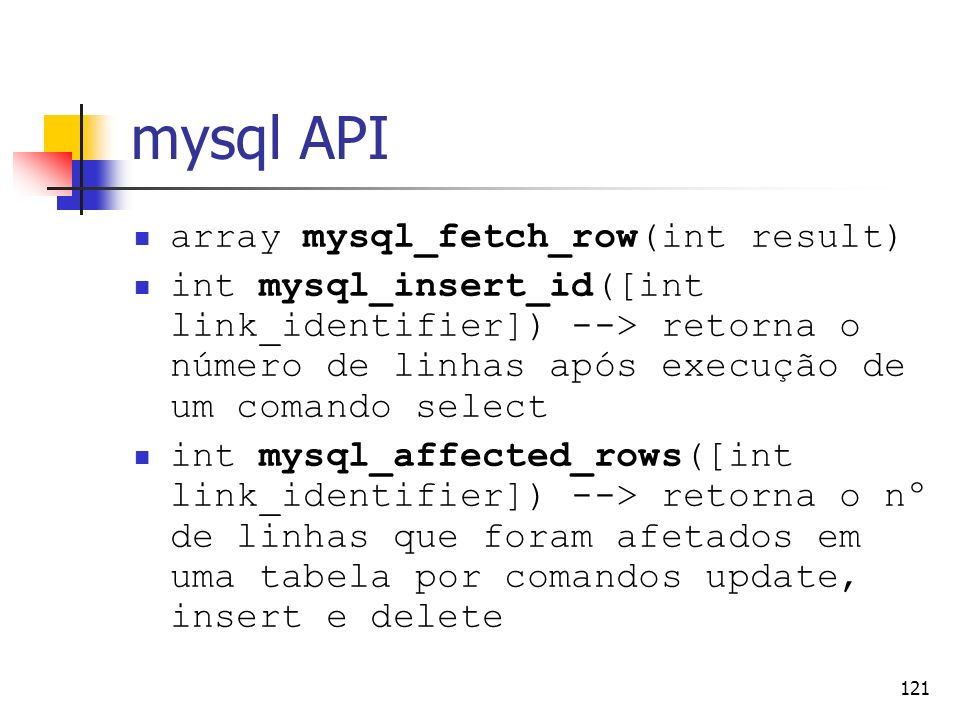 mysql API array mysql_fetch_row(int result)