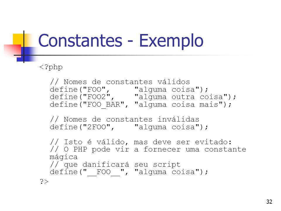 Constantes - Exemplo