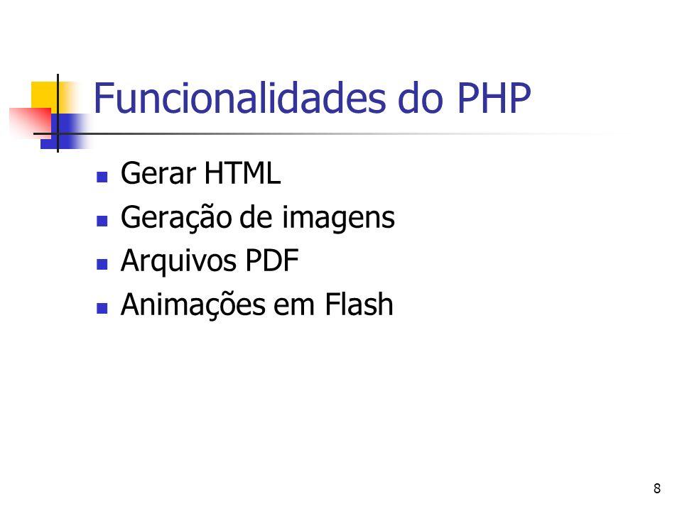 Funcionalidades do PHP