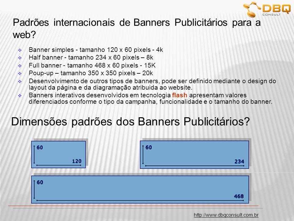 Padrões internacionais de Banners Publicitários para a web