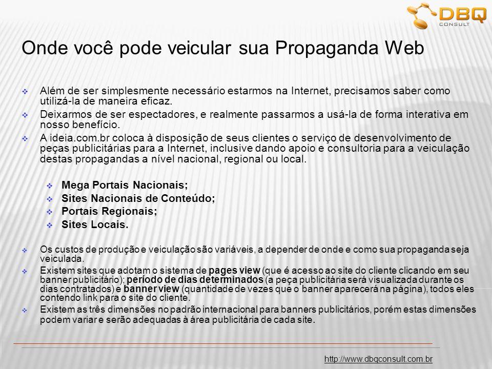 Onde você pode veicular sua Propaganda Web