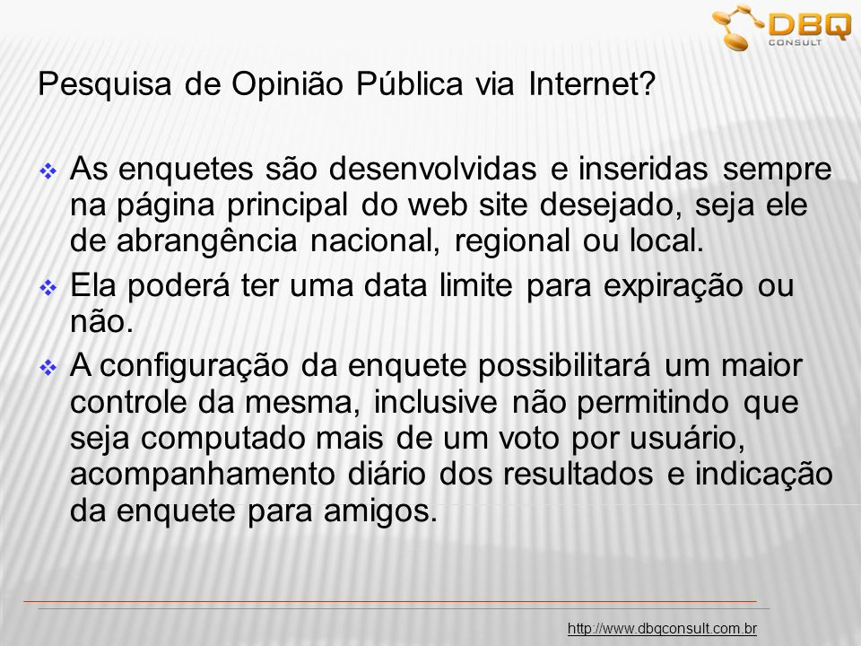 Pesquisa de Opinião Pública via Internet