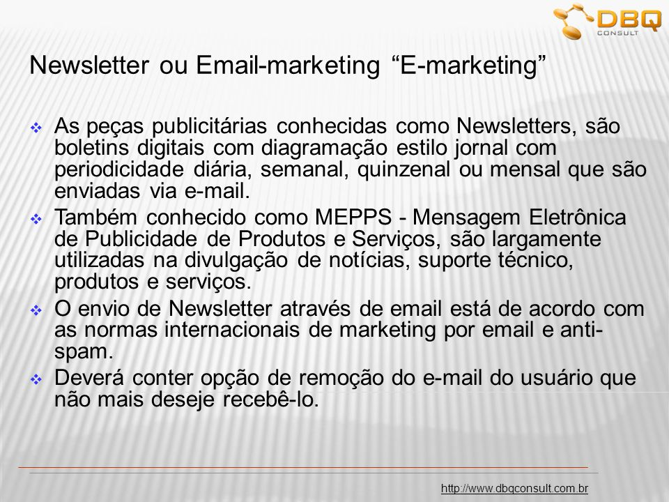 Newsletter ou Email-marketing E-marketing