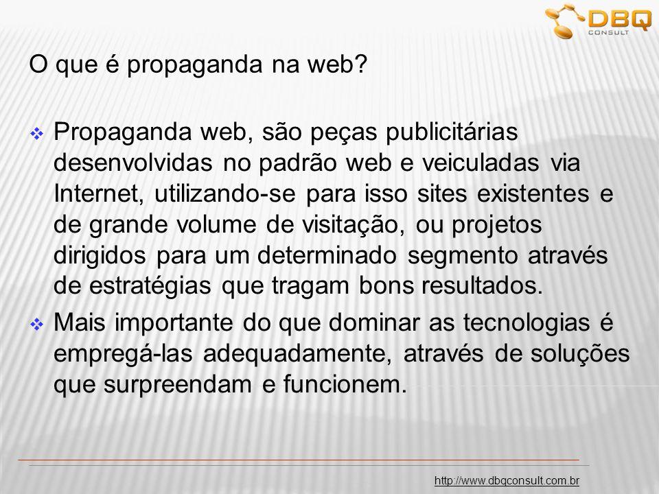O que é propaganda na web