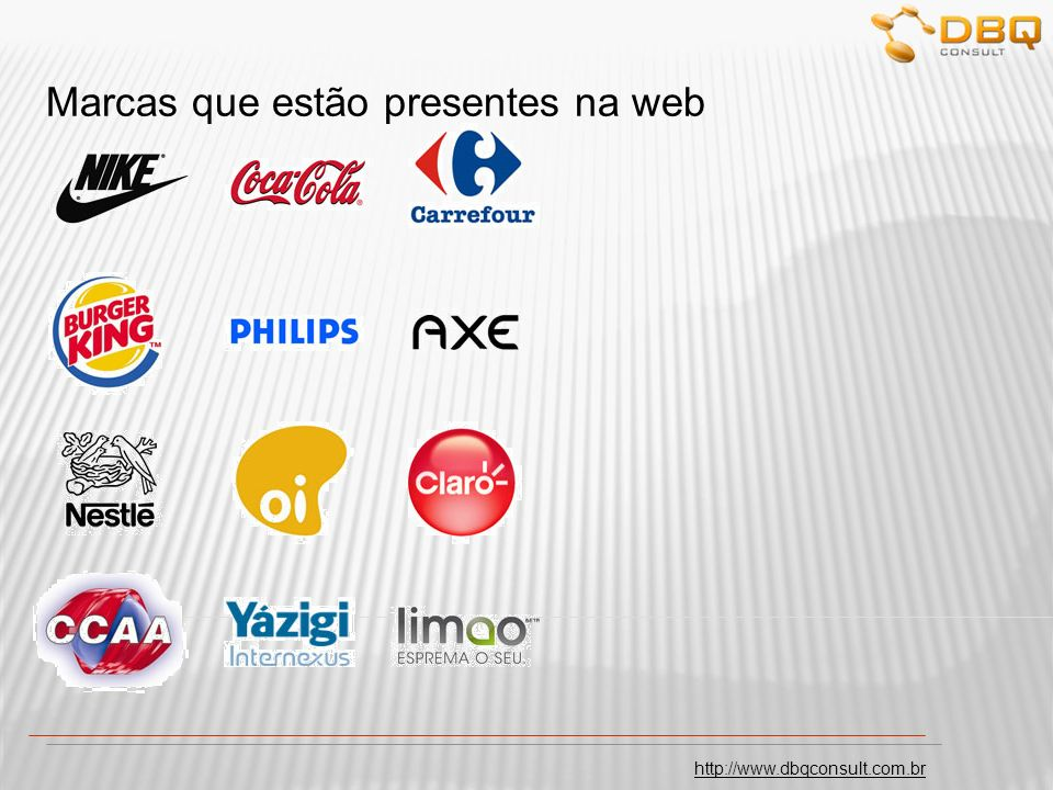 Marcas que estão presentes na web