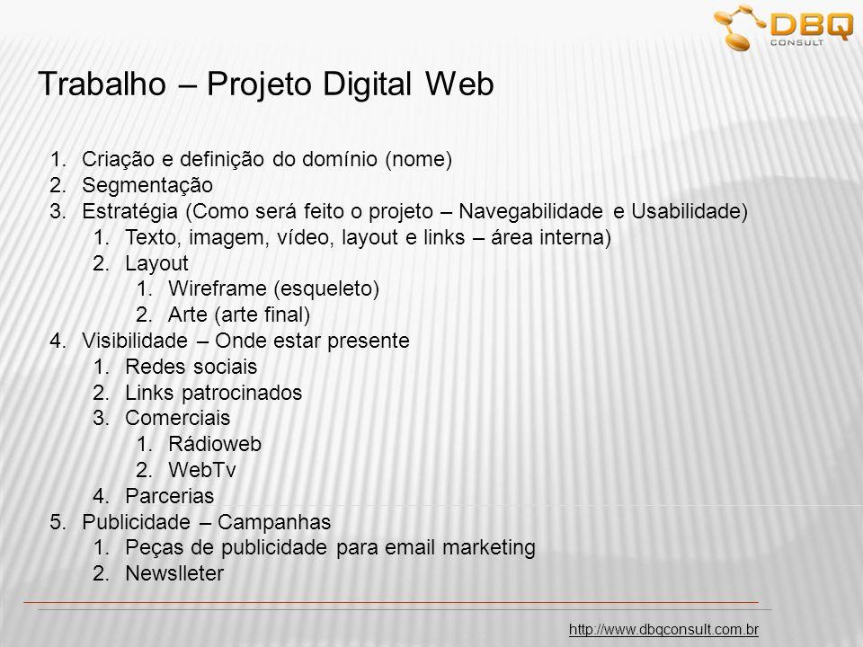 Trabalho – Projeto Digital Web