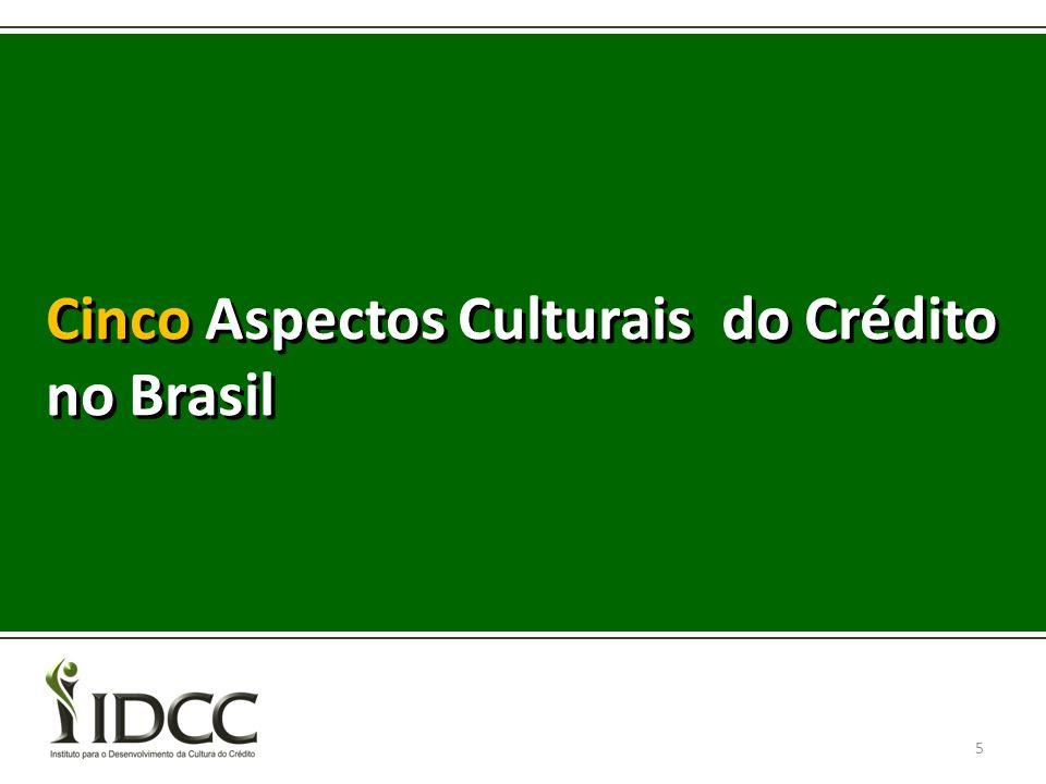 Cinco Aspectos Culturais do Crédito no Brasil