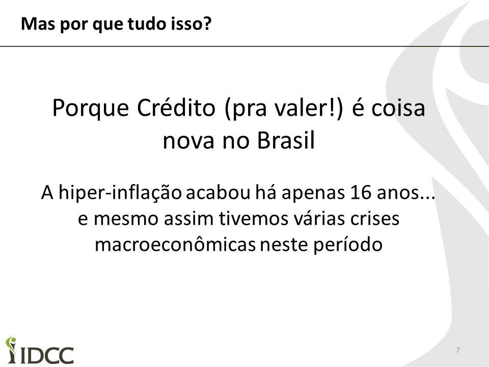 Porque Crédito (pra valer!) é coisa nova no Brasil
