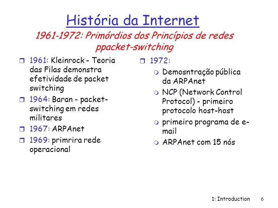 1961-1972: Primórdios dos Princípios de redes ppacket-switching