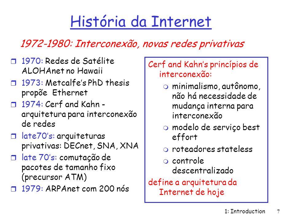 História da Internet 1972-1980: Interconexão, novas redes privativas