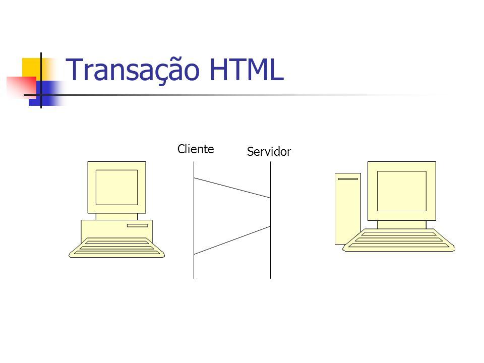 Transação HTML Cliente Servidor