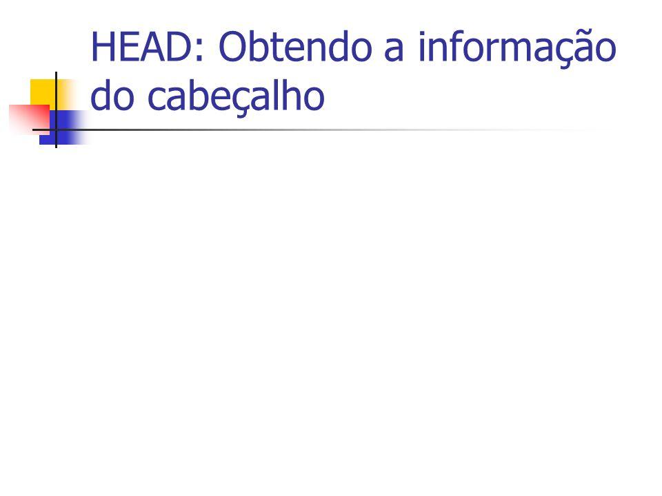 HEAD: Obtendo a informação do cabeçalho