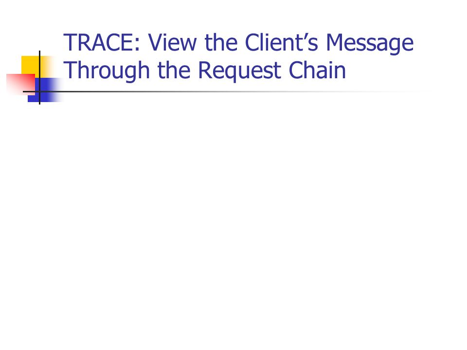 TRACE: View the Client's Message Through the Request Chain
