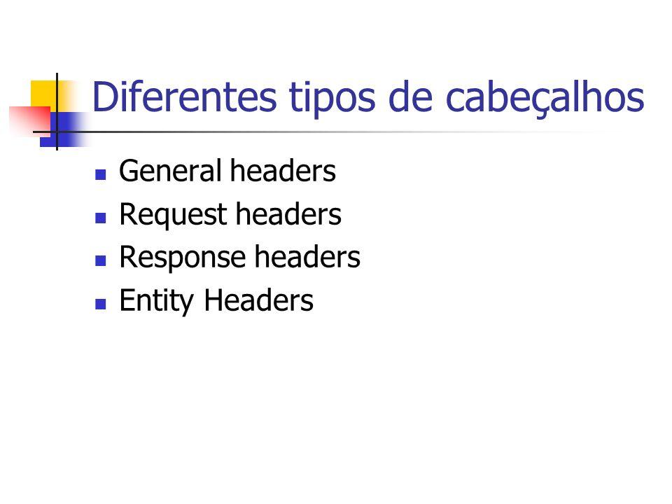 Diferentes tipos de cabeçalhos