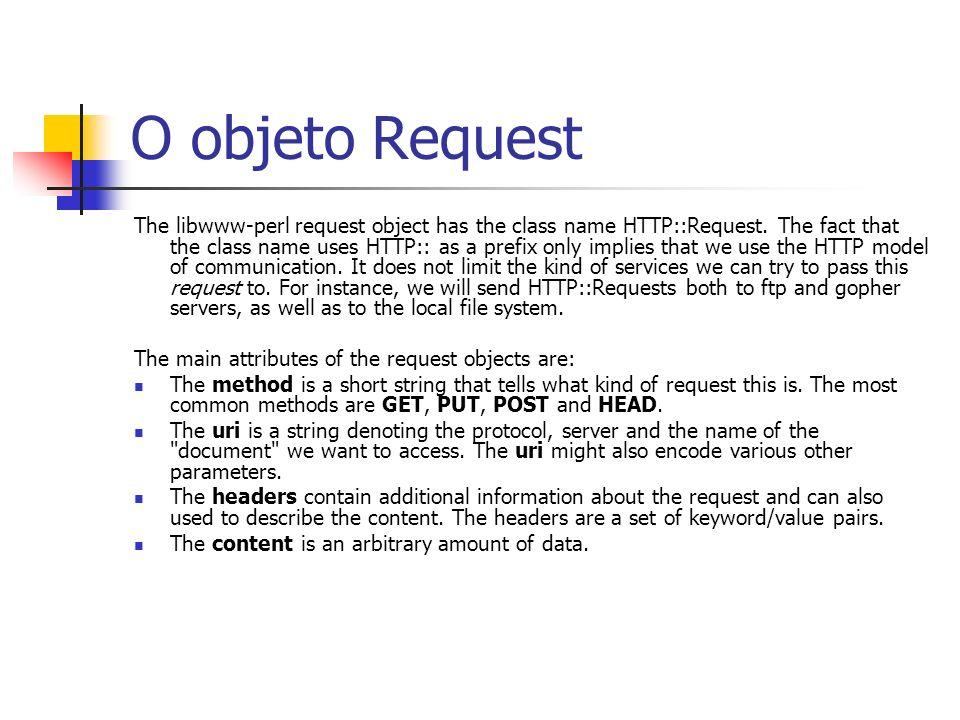 O objeto Request