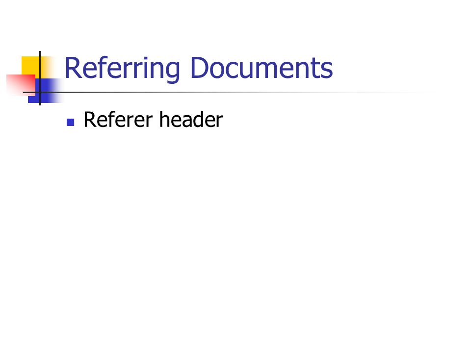 Referring Documents Referer header
