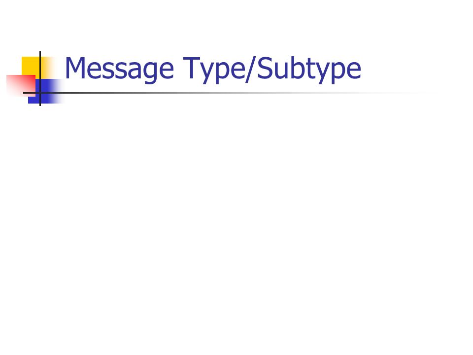 Message Type/Subtype
