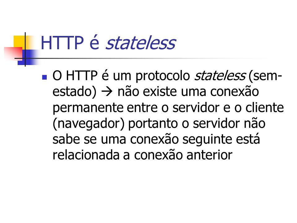 HTTP é stateless