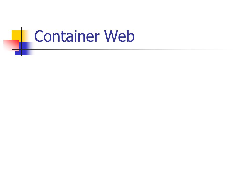 Container Web