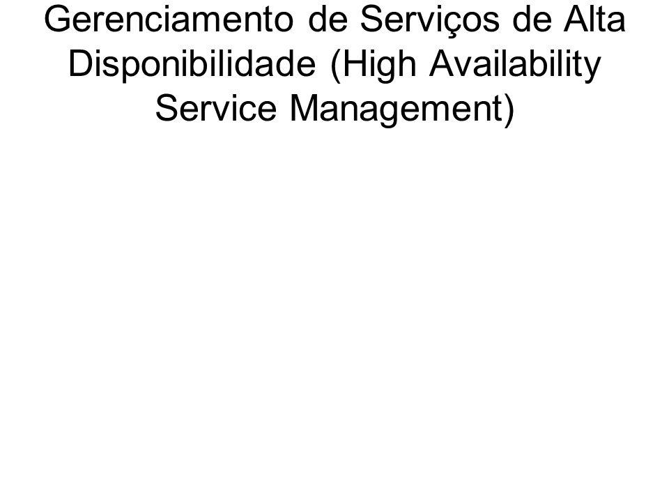 Gerenciamento de Serviços de Alta Disponibilidade (High Availability Service Management)