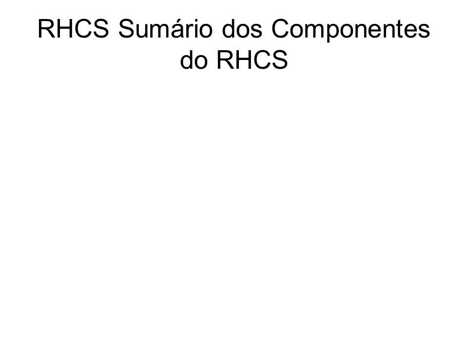 RHCS Sumário dos Componentes do RHCS