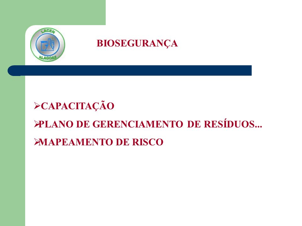 PLANO DE GERENCIAMENTO DE RESÍDUOS... MAPEAMENTO DE RISCO