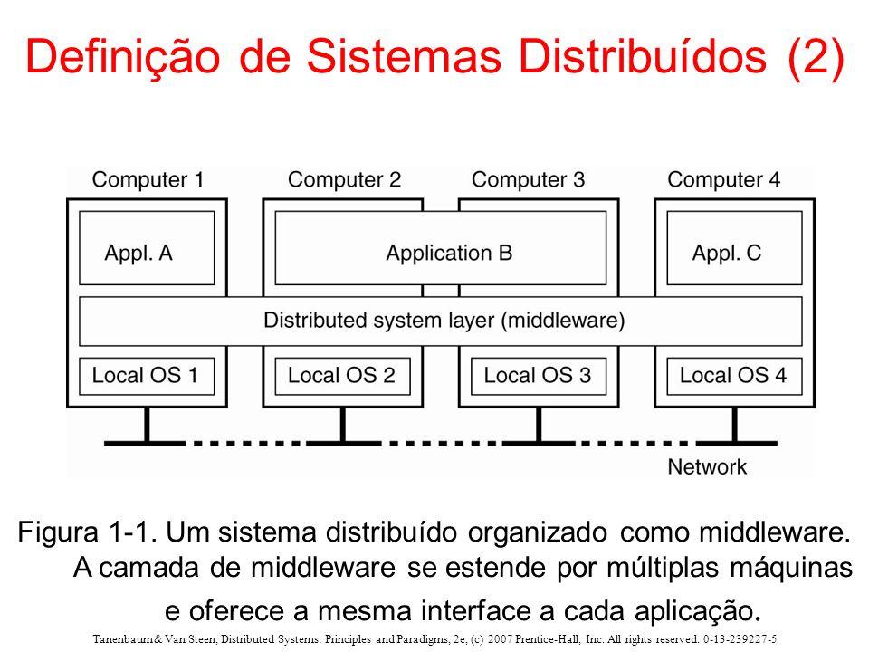 Definição de Sistemas Distribuídos (2)