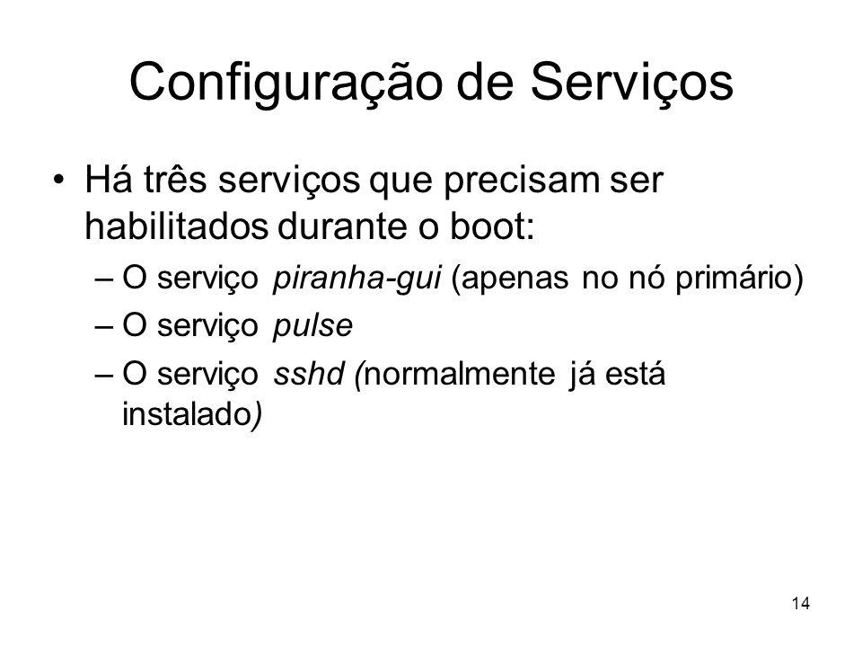Configuração de Serviços