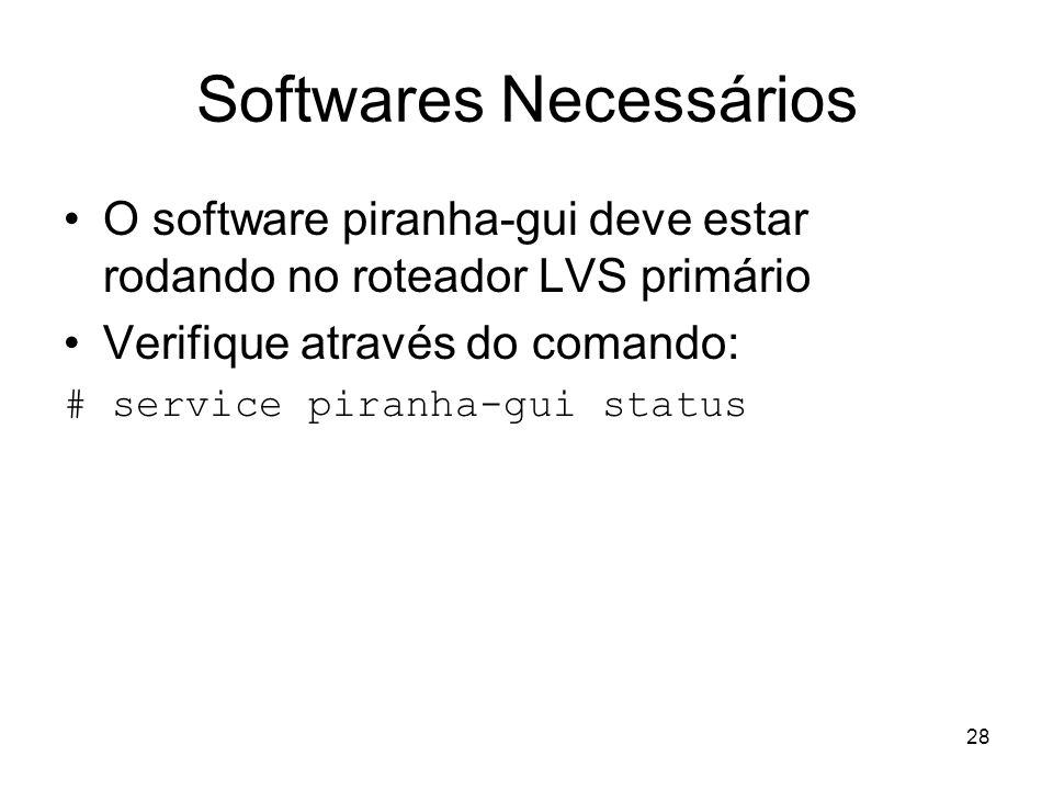 Softwares Necessários