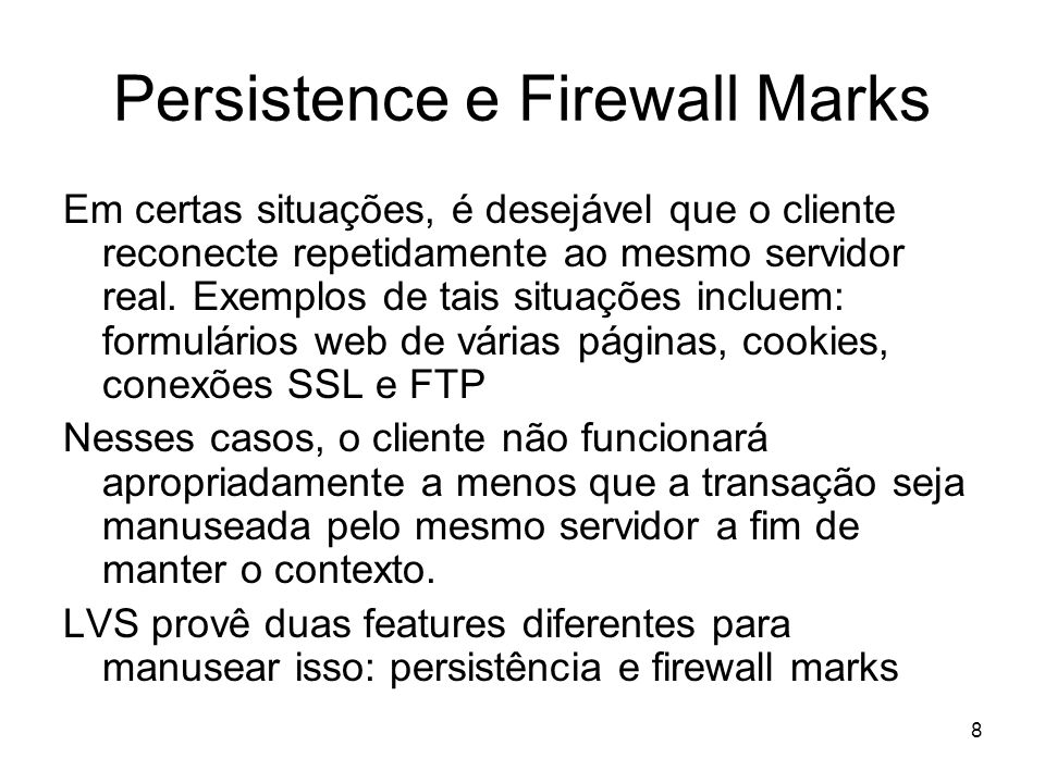 Persistence e Firewall Marks