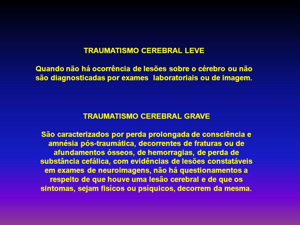 TRAUMATISMO CEREBRAL LEVE TRAUMATISMO CEREBRAL GRAVE