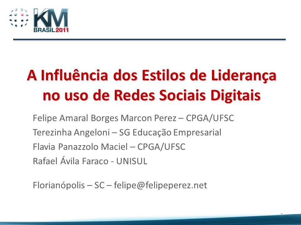 A Influência dos Estilos de Liderança no uso de Redes Sociais Digitais