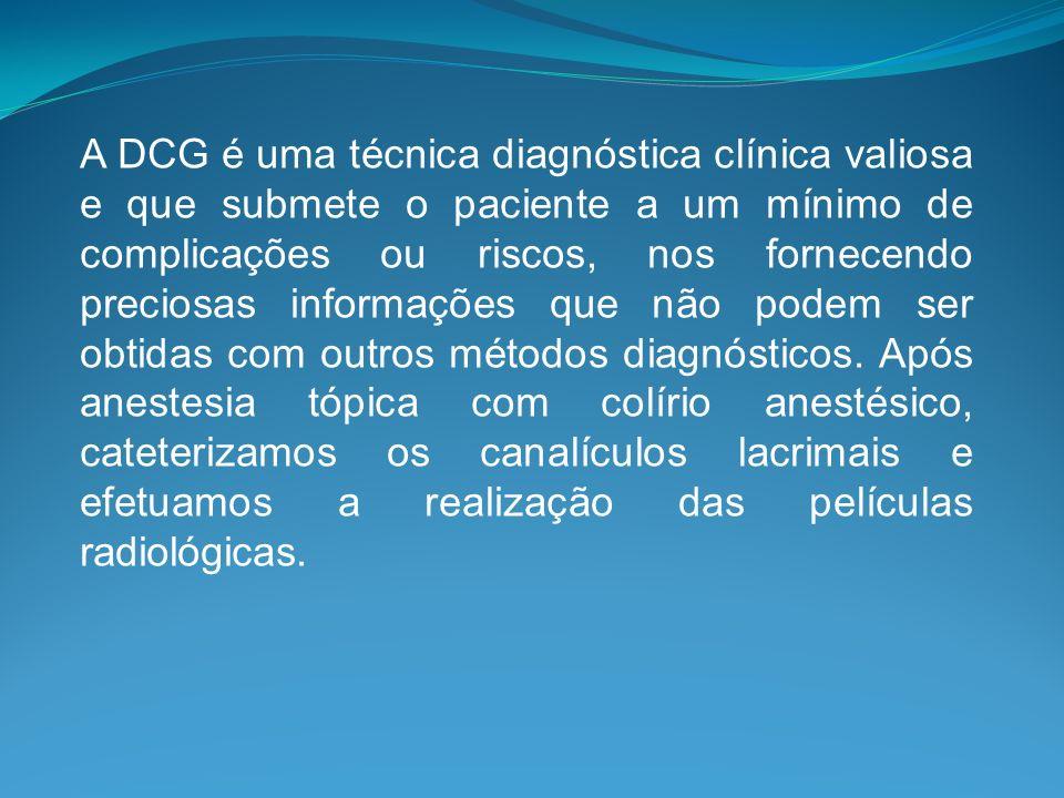 A DCG é uma técnica diagnóstica clínica valiosa e que submete o paciente a um mínimo de complicações ou riscos, nos fornecendo preciosas informações que não podem ser obtidas com outros métodos diagnósticos.