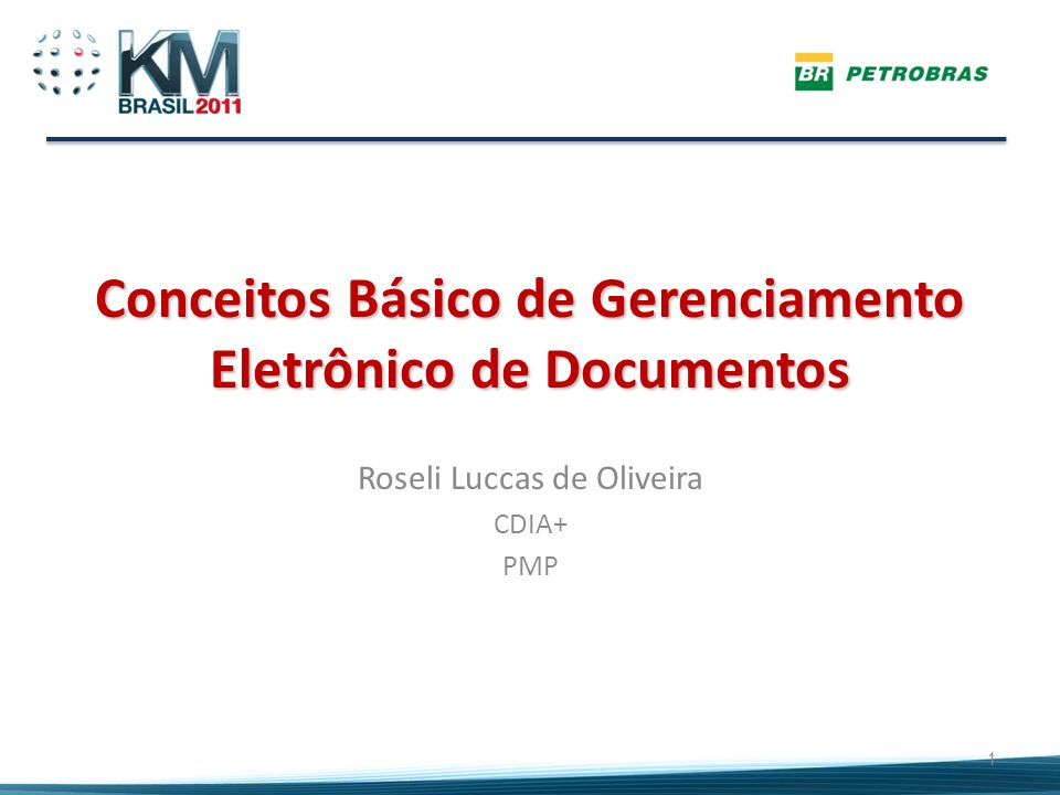 Conceitos Básico de Gerenciamento Eletrônico de Documentos