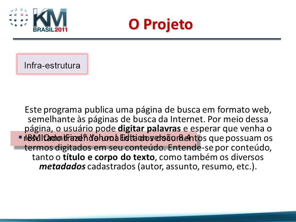 O ProjetoInfra-estrutura.