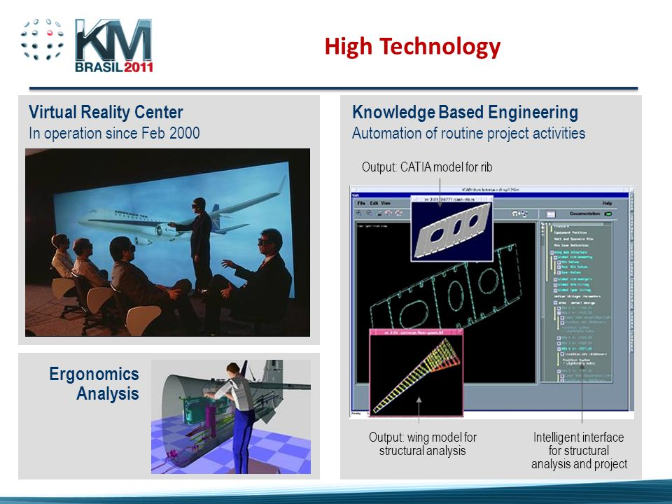High Technology Virtual Reality Center Knowledge Based Engineering