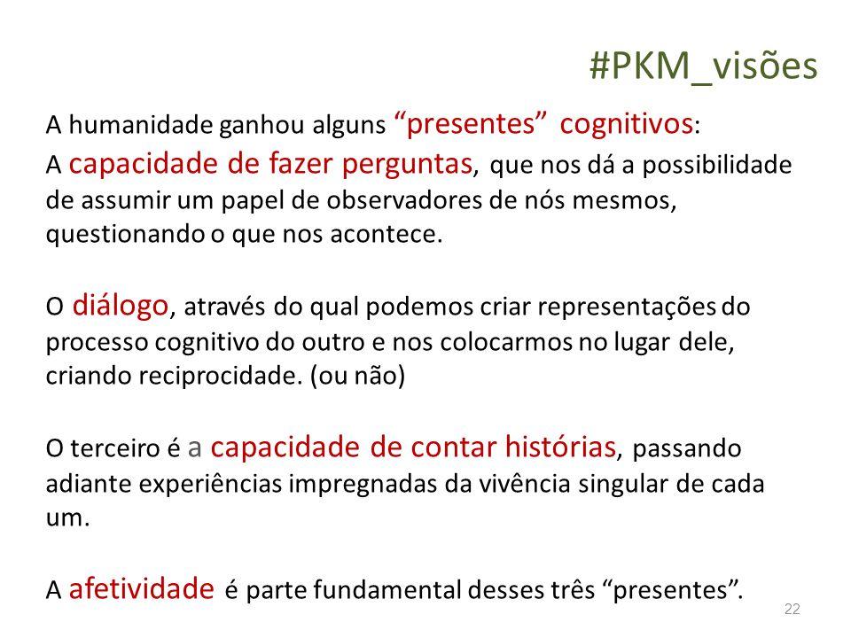 #PKM_visões A humanidade ganhou alguns presentes cognitivos: