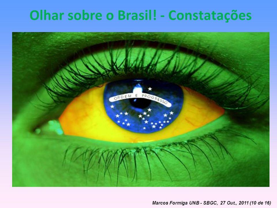 Olhar sobre o Brasil! - Constatações