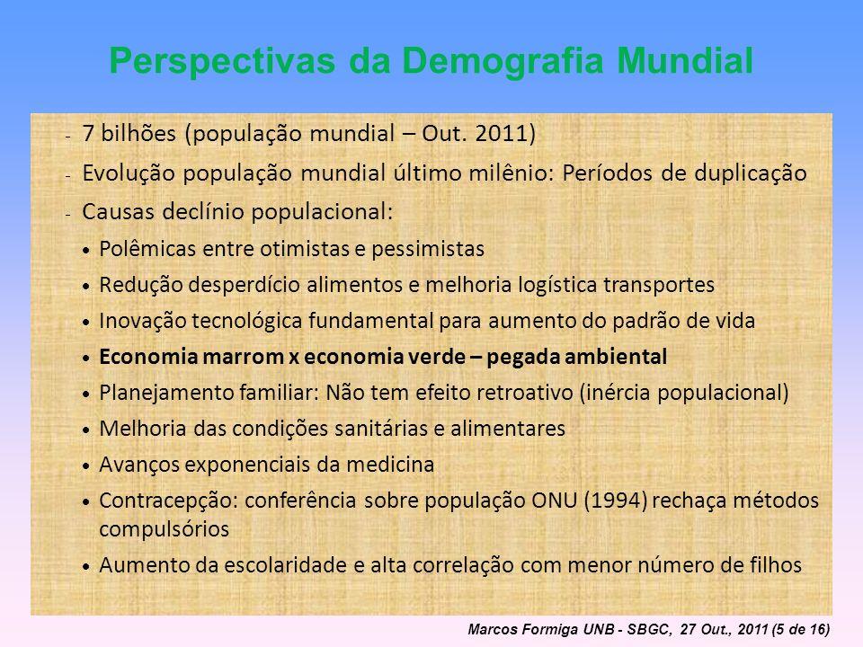 Perspectivas da Demografia Mundial