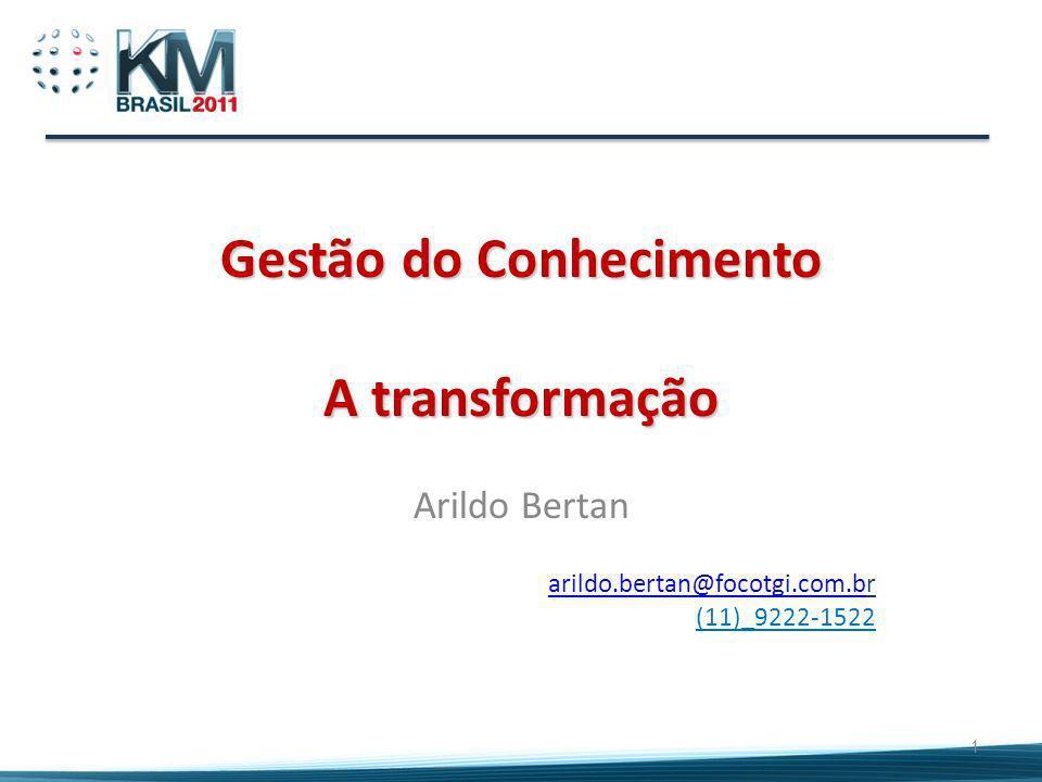 Gestão do Conhecimento A transformação