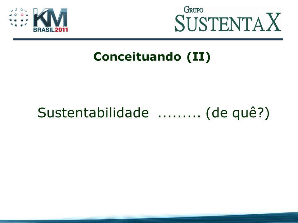 Sustentabilidade ......... (de quê )