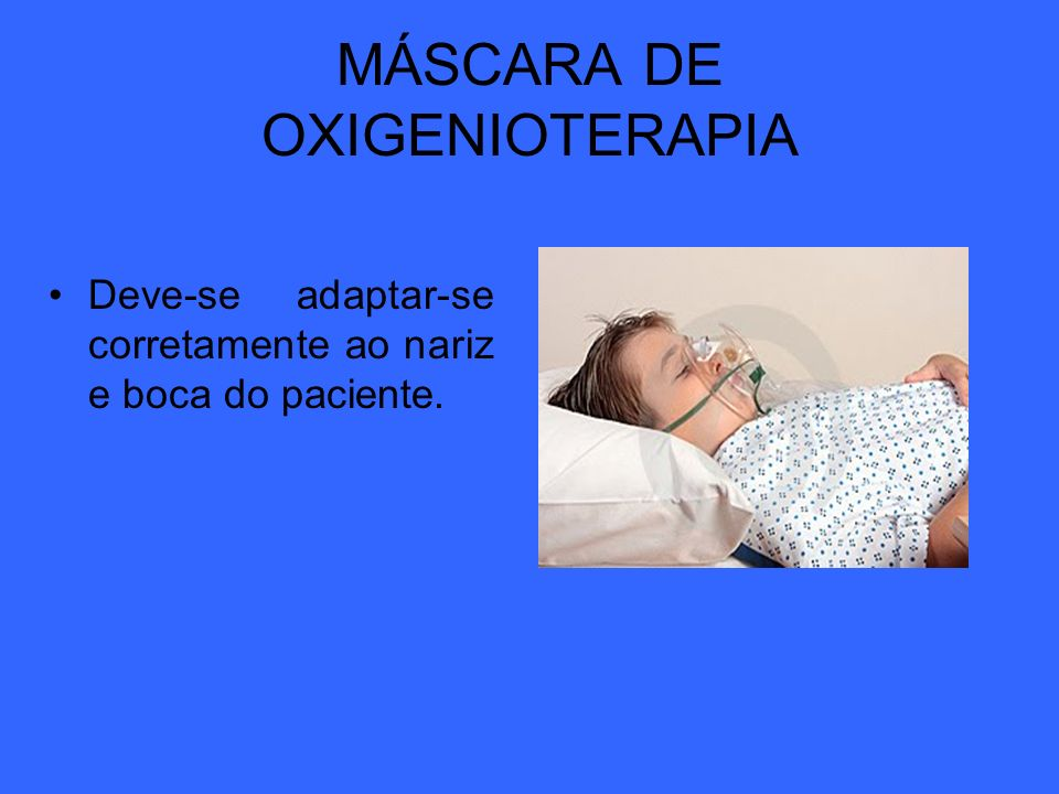 MÁSCARA DE OXIGENIOTERAPIA