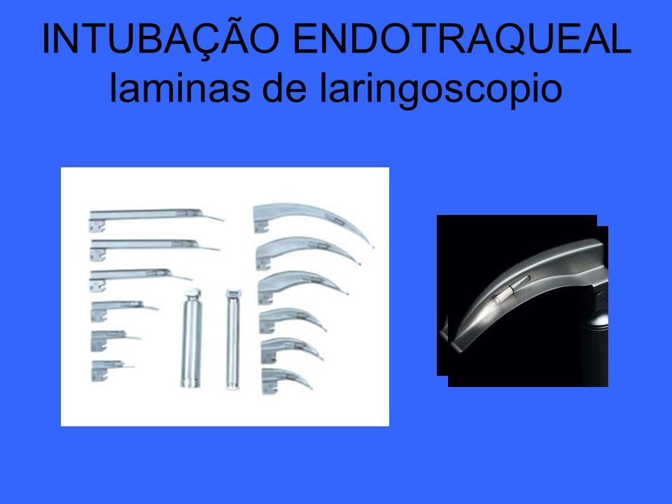 INTUBAÇÃO ENDOTRAQUEAL laminas de laringoscopio