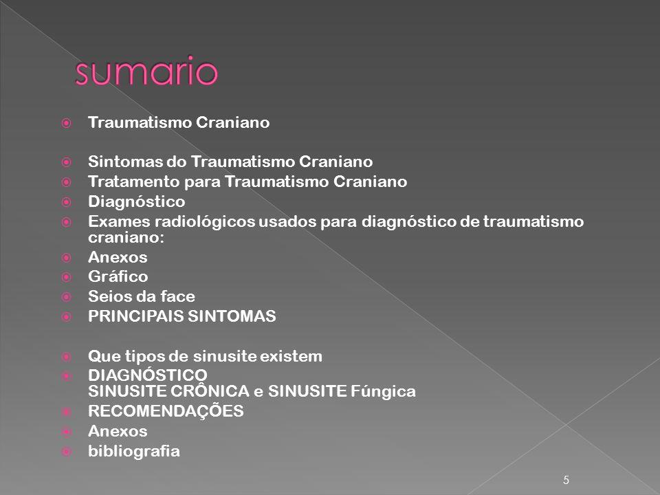 sumario Traumatismo Craniano Sintomas do Traumatismo Craniano