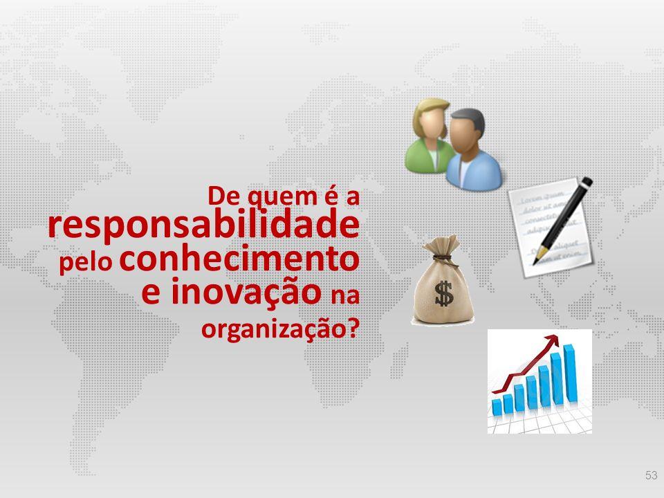 De quem é a responsabilidade pelo conhecimento e inovação na organização