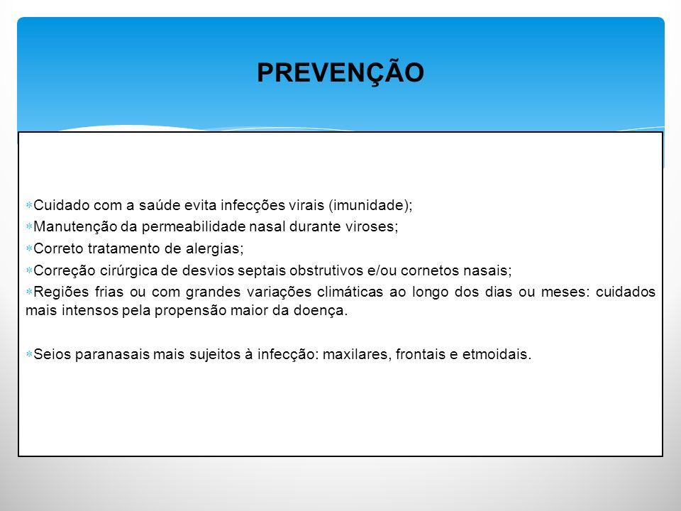 PREVENÇÃO Cuidado com a saúde evita infecções virais (imunidade);